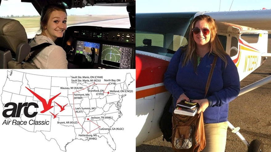 West Michigan high school alumnae paired for Air Race Classic Tennessee to Canada air rally begins June 18